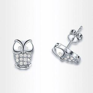 Jewelry - 🔳Mix&Match SALES Pretty Owl Earrings 925 Silver
